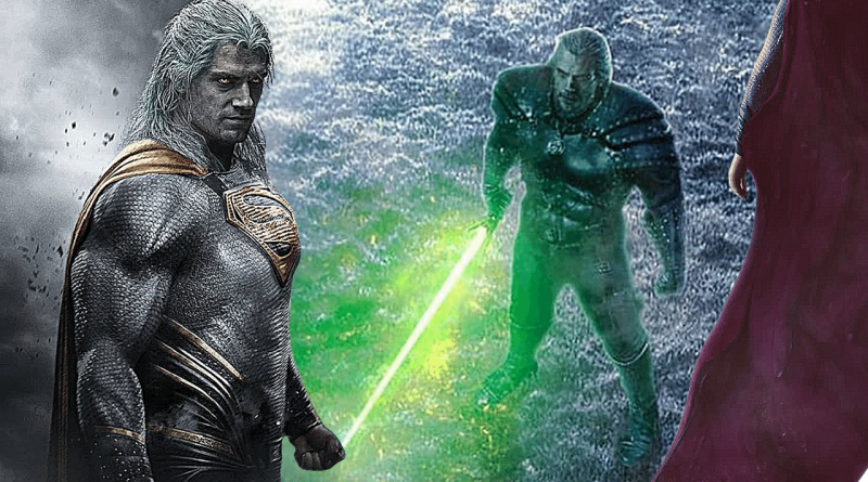 Henry Cavill's Witcher With a Lightsaber Fights Superman in Crossover Art