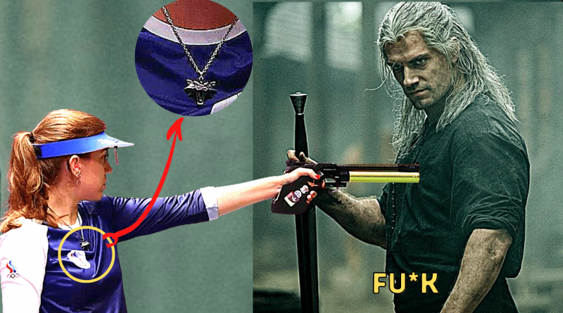 _Russian Athlete and The Witcher Fan Wins Gold Tokyo Olympics